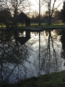 Lake and summerhouse, Chippenham Park