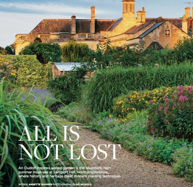 Lamport Hall feature in The English Garden Magazine, August 2016