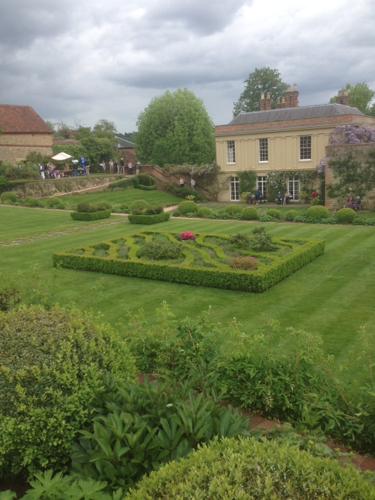 Parterre in the terraced garden at Chilworth Manor, Surrey