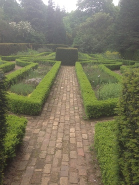 Adorable little herb 'knot' garden at Hall Place.