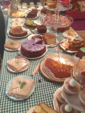 A super selection of cakes and refreshments at NGS gardens!