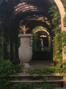 Hornbeam pergola in Collector Earl's Garden