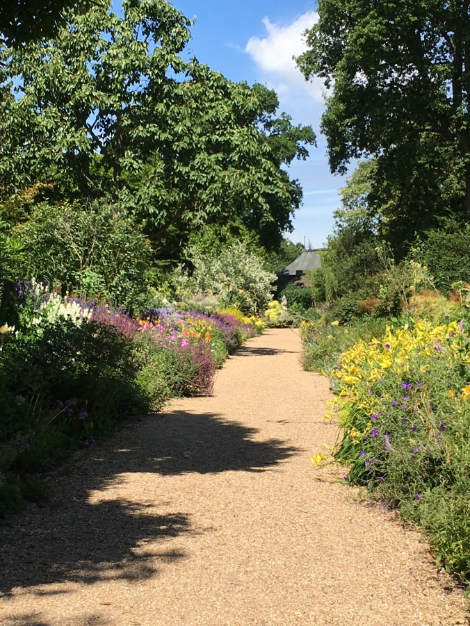 Herbaceous borders at Nymans