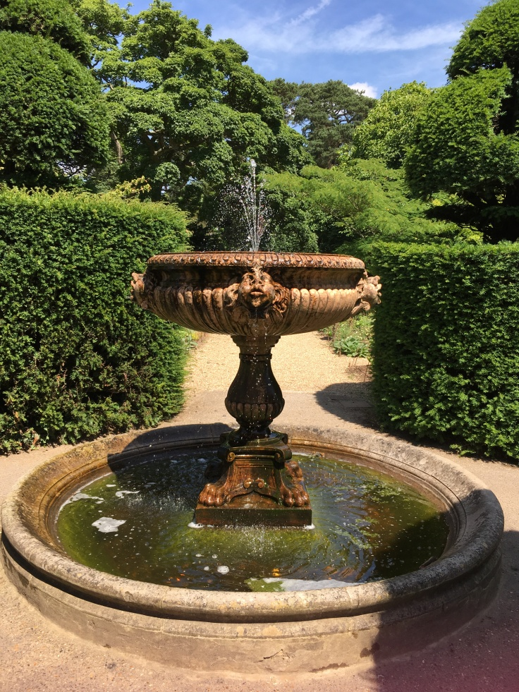 fountain in the walled garden