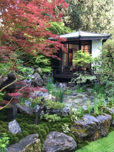 Tranquil water in the O-mo-te-na-shi no NIWA garden