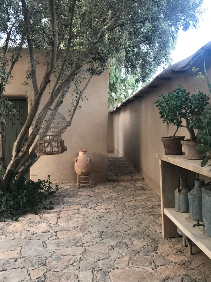 A quiet part of the garden at Dar al Hossoun